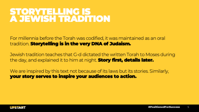Storytelling is a Jewish Tradition